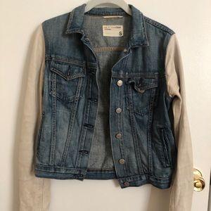 Rag & Bone Leather and Denim Jacket, Size Small